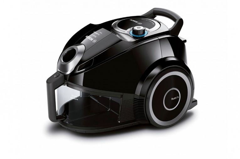 Aspirador sin bolsa Runn'n ProSilence de Bosch, silencioso y con bajo consumo de energía