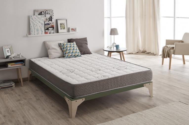 Descanse con el colchón Paradise Spa, fibras naturales y acolchados artesanales (firmeza media)