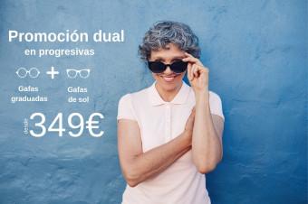 Soloptical promoción dual: 1 gafas progresivas + 1 gafas progresivas de sol por 100€ más