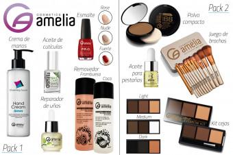 Elija su pack de cosmética de Amelia Cosmetics, una marca que conquistará su tocador