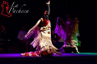 Tablao La Pacheca: Déjese atrapar por el duende del flamenco, menú y espectáculo para 2 personas