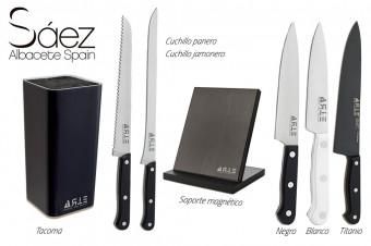 Lo mejor para su cocina con Cuchillería Sáez: set de cuchillos entre tres modelos a elegir