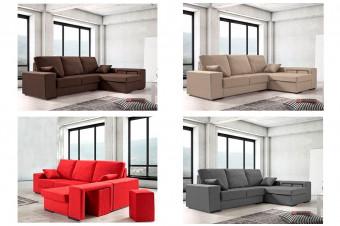 Relájese en este sofá chaiselongue Platinum completamente reversible. ¡Mejore su confort!