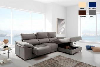 Encuentre el descanso con este sofá chaiselongue Imperio con canapé de gran capacidad