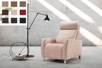 Descanse en este sillón relax Leo con asiento reclinable. ¡Sienta la comodidad!