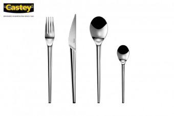Castey: cubertería de mesa compuesta por 24 piezas de acero inoxidable de la colección Stock