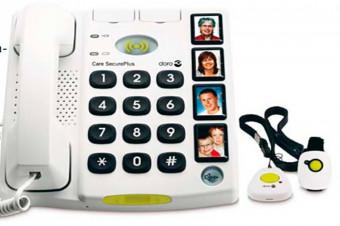 Comuníquese con amigos y familiares con este teléfono fijo con tele asistencia